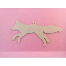 4mm MDF Fox with loop